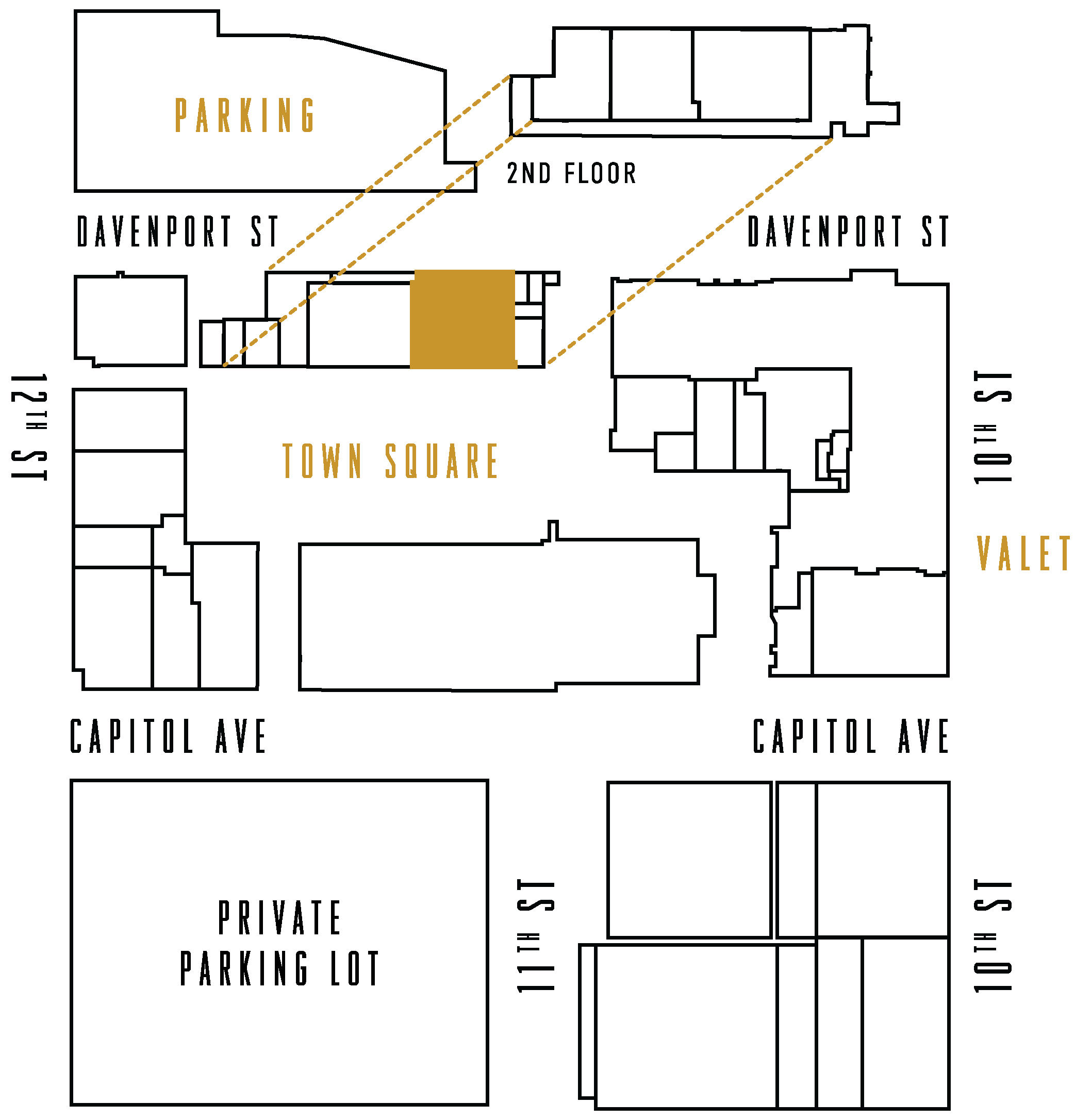 District Map highlighting Annie's Irish Pub