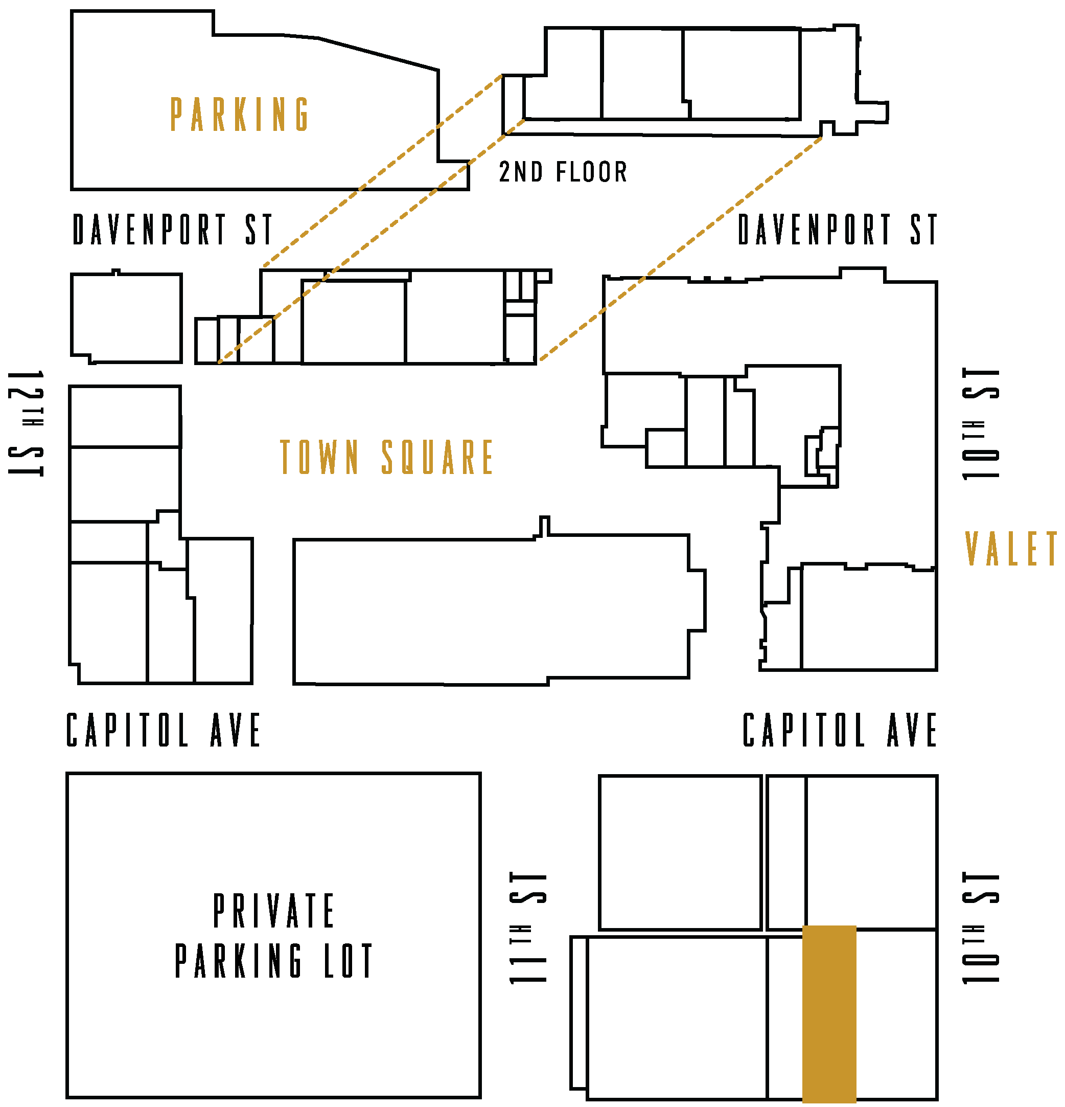 The Capitol District Map highlighting Nosh