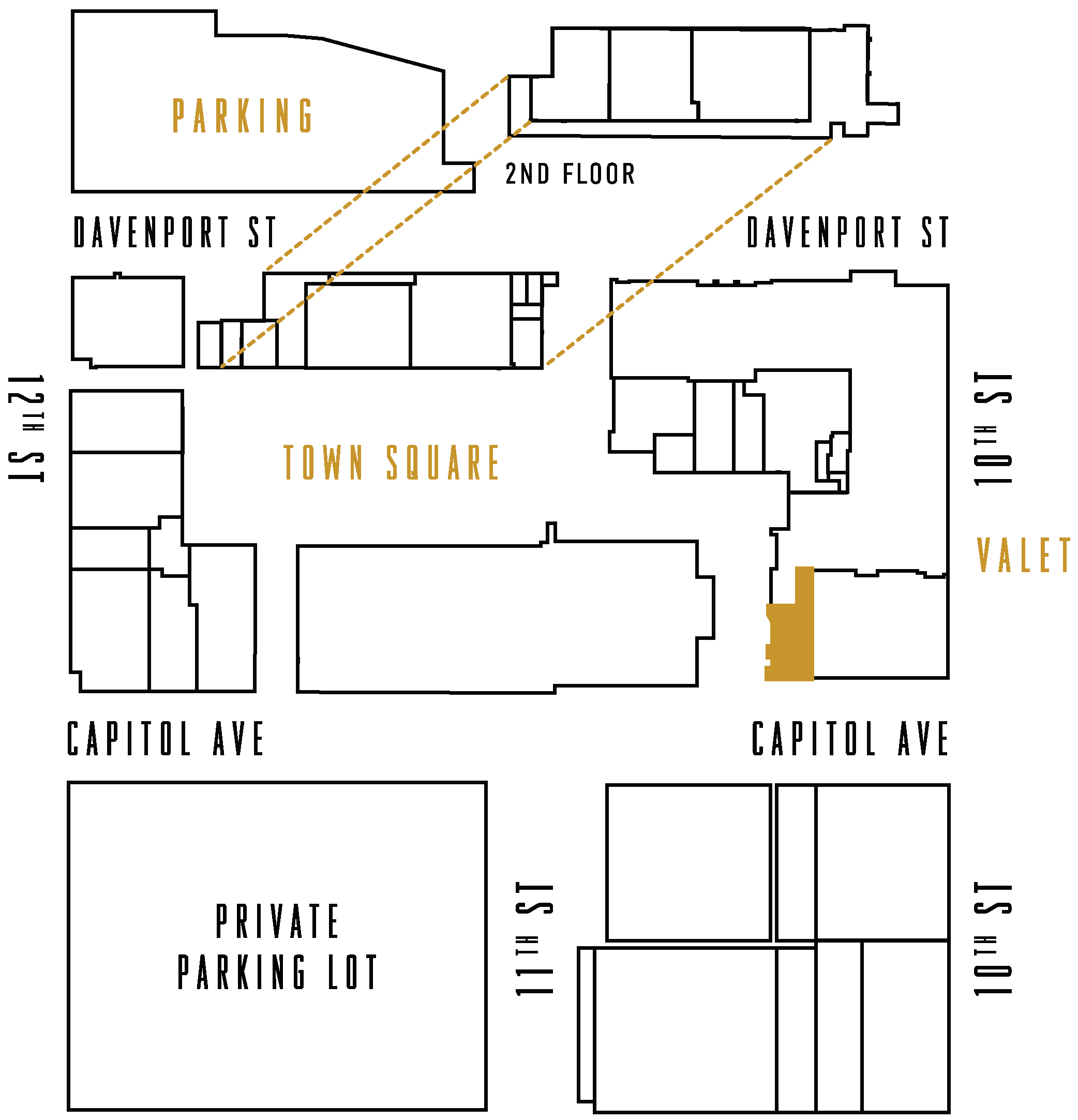 The Capitol District Map highlighting Starbucks